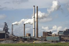 Steel mill Royalty Free Stock Photography