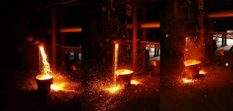In a steel mill Stock Photo