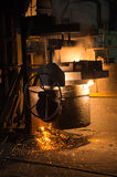 In a steel mill Stock Images