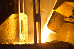 In a steel mill royalty free stock image