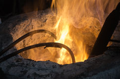 In a steel mill Royalty Free Stock Photos