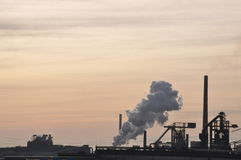 Steel mill industry Royalty Free Stock Image