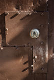 Steel Mill Lock Detail. Detail shot of old industrial door fixture Royalty Free Stock Photography