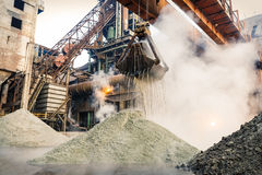 Steel mill machinery in the construction Royalty Free Stock Images