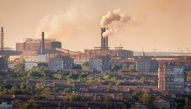 Steel mill, Metallurgy plant. Heavy industry factory Stock Image