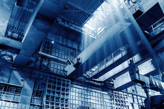 Steel mill production workshop Royalty Free Stock Photo