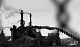 Steel Mills of Cleveland, Ohio, USA Stock Images