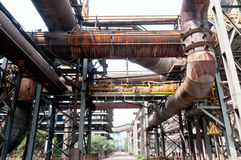 Steel mills gas pipeline Royalty Free Stock Image