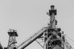 Steel mills industrial pipe equipment Stock Photos