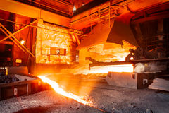 Steel mills Molten iron smelting furnace Royalty Free Stock Photography