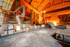 Steel mills Molten iron smelting furnace production line Stock Photo