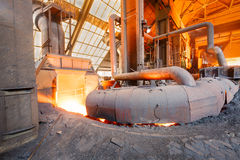 Steel mills Molten iron smelting furnace production line Royalty Free Stock Photography