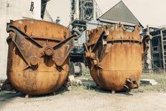Steel mills Steel furnace Stock Image