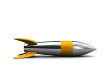 Steel missile Stock Images