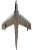 Steel modellerar av ett flygplan Arkivbild