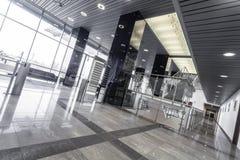 Steel modern office interior Stock Photography