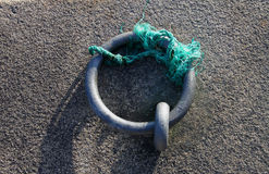 Steel mooring ring Royalty Free Stock Photo