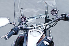 Steel motorbike Royalty Free Stock Images