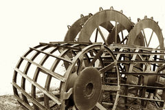 Steel Mud Wheels for Rice Tractor Stock Image
