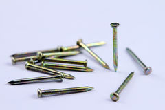Steel nail Royalty Free Stock Image