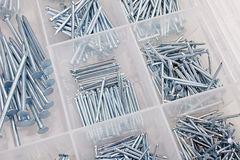 Steel nails Stock Photography