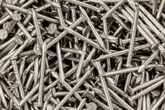 Steel nails Stock Image