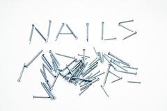 Steel nails Stock Photos