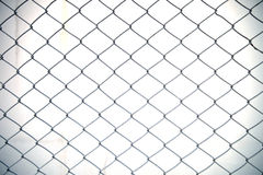 Steel net fence with blur background Stock Image