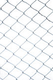 Steel net fence with blur background Stock Photography