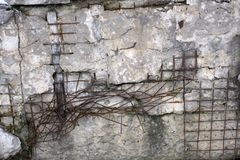 Steel net for protect rock slide.stone with metal net background. royalty free stock photo