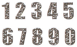 Steel number Royalty Free Stock Image