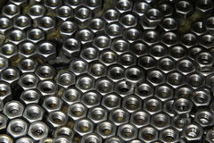Steel nut Royalty Free Stock Photography