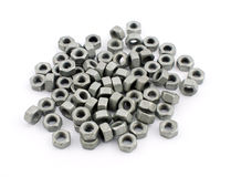 Steel nuts Stock Photos