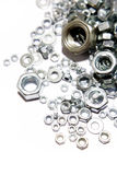 Steel nuts Royalty Free Stock Photography