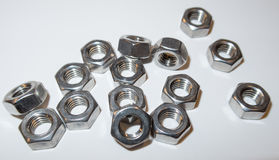Steel nuts Royalty Free Stock Photos
