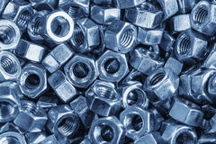 Steel nuts Stock Photography