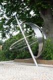 Steel object marking greenwich  meridian Stock Images