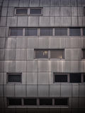 Steel office building with weathered panels steel cladding Royalty Free Stock Photos