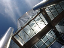 Steel office tower in London Stock Photo