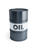 Steel oil barrel Royalty Free Stock Images