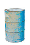 Steel oil drum Stock Photo