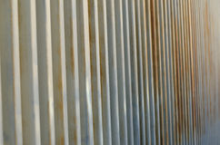 Steel palisade Stock Photo