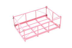 Steel Pallet. Pink on white background Royalty Free Stock Photography
