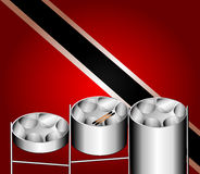 Steel Pan Drums. Vector Illustration of flag with three variations of Steel Pan Drums with invented in Trinidad and Tobago
