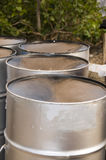 Steel pan drums roadside port of spain trinidad Stock Photo