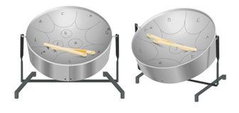 Steel pan drums. Trinidad and Tobago national musical instrument steel pan drum Royalty Free Stock Photos
