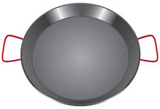 Steel pan with two handles Royalty Free Stock Images