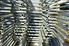 Steel panels. A stack of steel panels used for cattle pens Royalty Free Stock Image