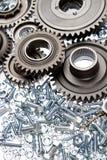 Steel parts Stock Photo