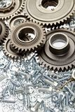 Steel parts Stock Image